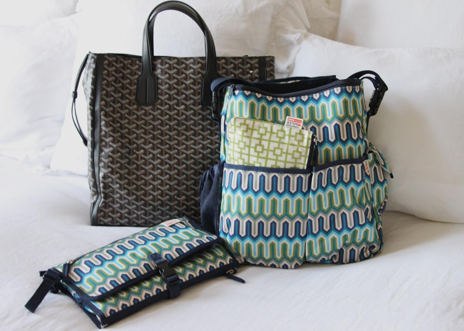 Diaper Bags Goyard From Barneys New York S Beverly Hills Location Jonathan Adler For Skip Hop Dash Bag In Chevron Blue And