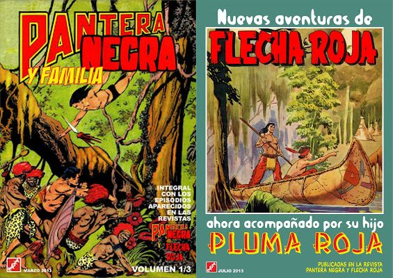 Revistas Pantera Negra y Flecha Roja. Compilaciones de EAGZA