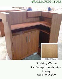 Contoh Furniture Semprot Melamine Cherry