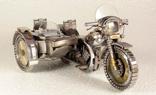 Recycling old Wrist watches to realistic Motor vehicles