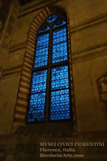 Santo Spirito refectory Salvatore Romano museum Florence Italy glass window