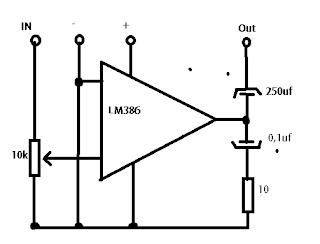 Skema Rangkaian Mini Amplifier Cocok