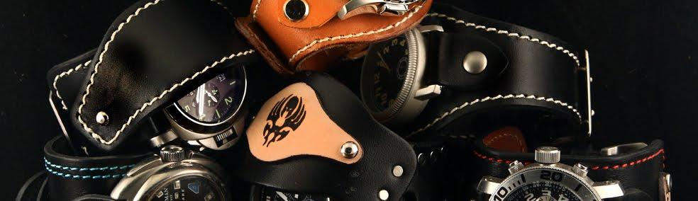 Curele de ceas, din piele, handmade. Topouzelli Straps.