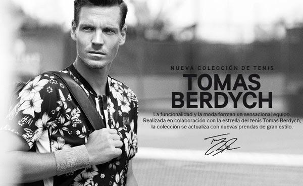 colección tenis Tomas Berdych H&M 2014 muñequeras