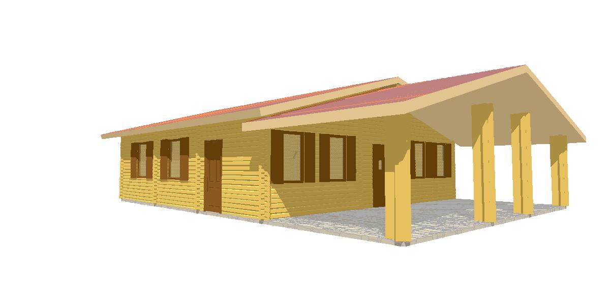 Progetti di case in legno casa 98 mq garage for Progetti di piani casa fienile