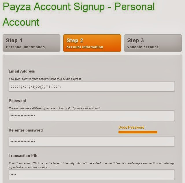 Cara Mudah Mendaftar Payza Terbaru 2014