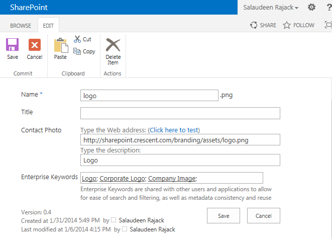 sharepoint 2013 enterprise keywords column
