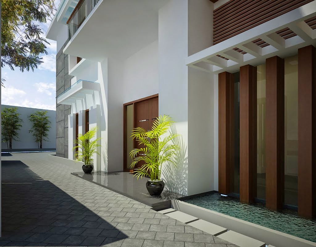 rumah minimalis tampak dari depan