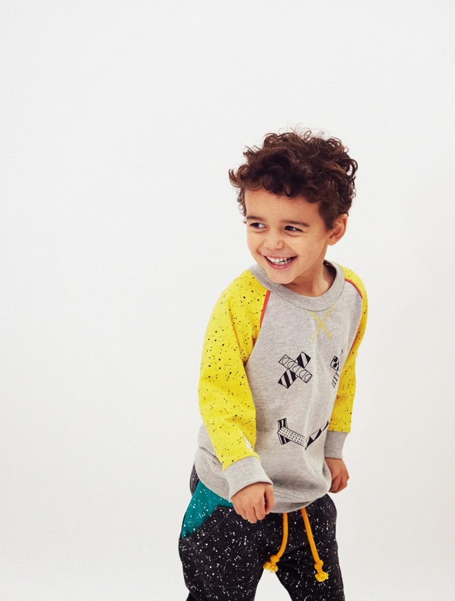 washi tape sweatshirt for Indikidual AW14 kids fashion collection