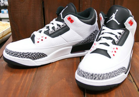 Nike Air Jrdan 3 Retro III OG White/Black-Cement Grey-Infrared 23 DS 2014