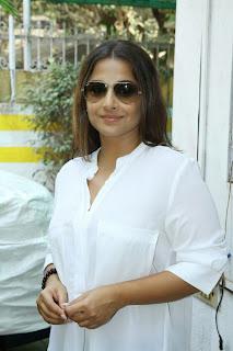 Actress Vidya Balan Latest Pictures in Jeans at Mukesh Chab Acting Workshop  6.JPG