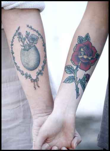 Cool matching tattoos for couples for Cool matching tattoos