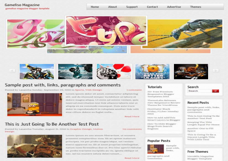 gameliso magazine blogger template free download free blogger templates. Black Bedroom Furniture Sets. Home Design Ideas
