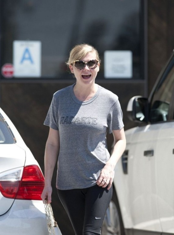 Kirsten Dunst in leggings while out and about in Los Angeles