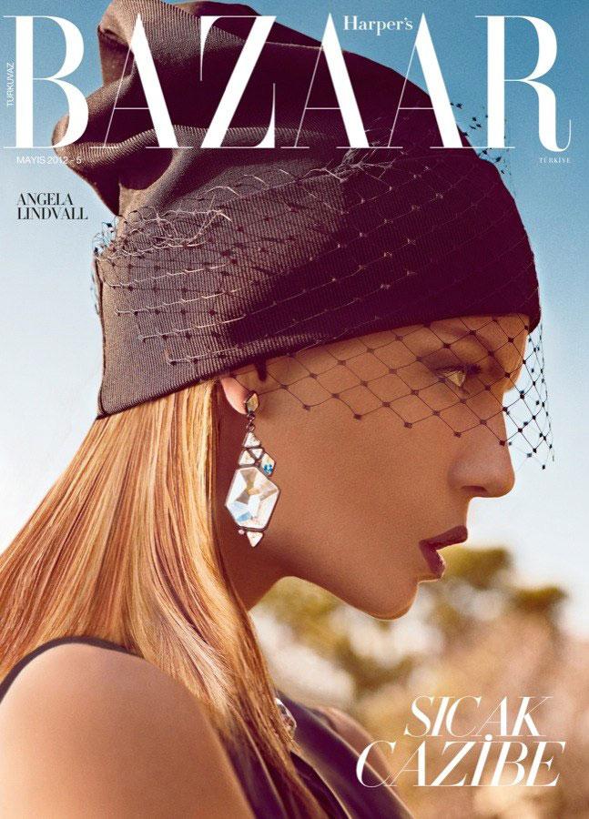 Harper's Bazaar Turkey May 2012: Angela Lindvall by Koray Birand