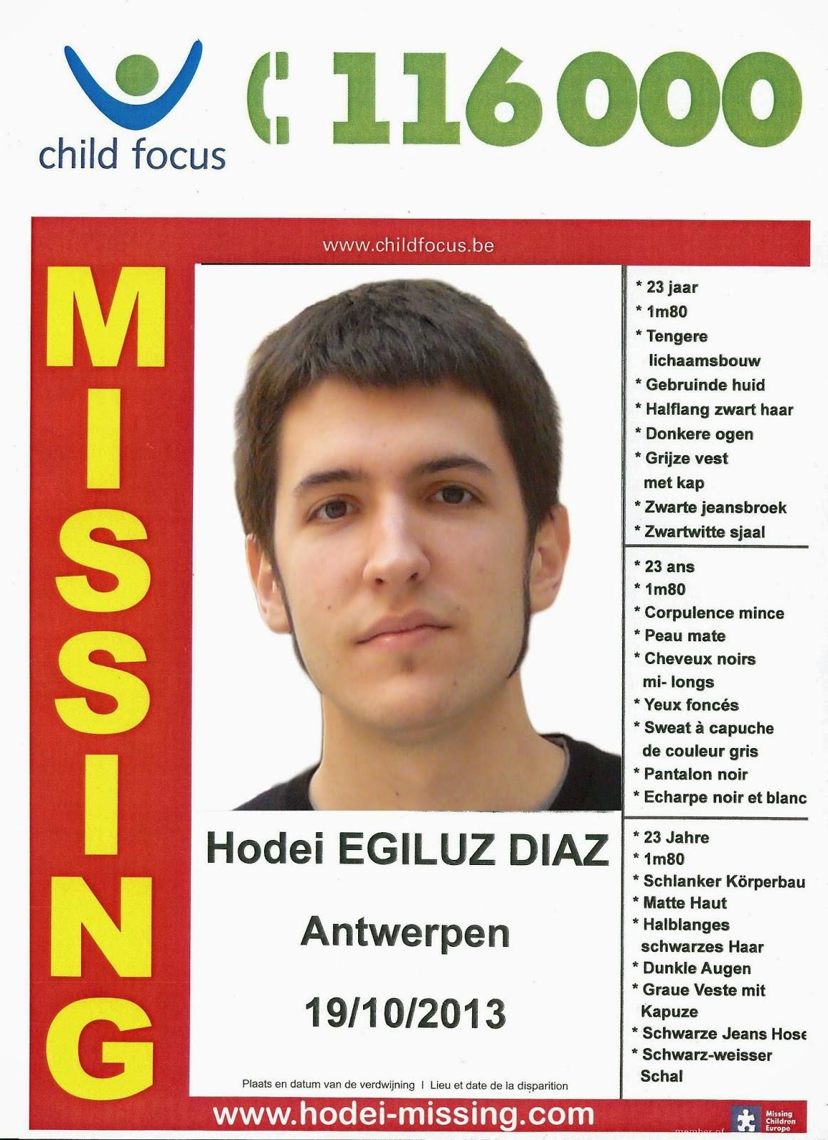 Investigar con plena dedicación, localizar y devolvernos a casa a nuestro hijo Hodei Egiluz.