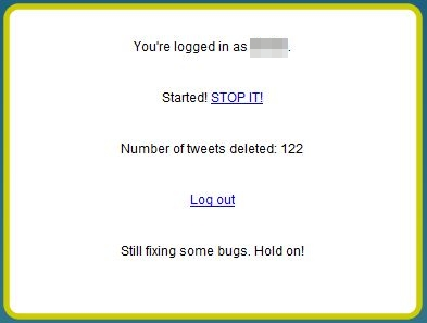 how to delete tweets from twitter
