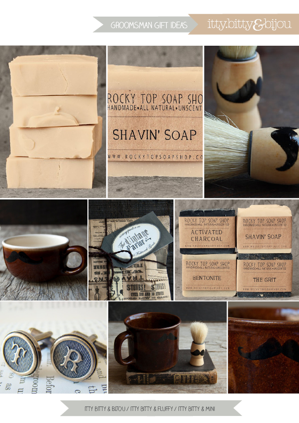 Groomsman Groom Ideas Soap Shaving Gift Moustache
