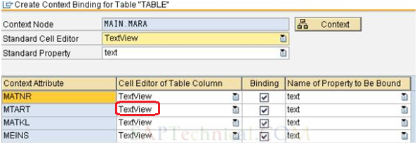table in web dynpro