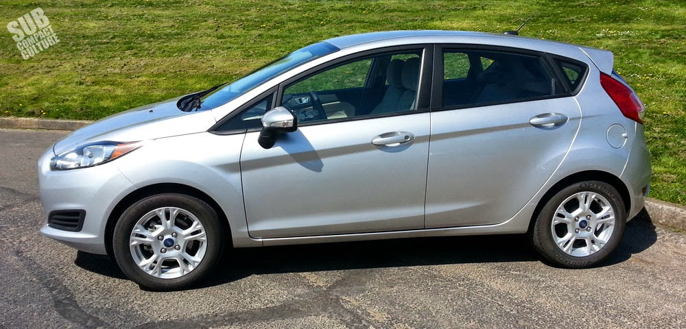 side shot of a 2014 Ford Fiesta