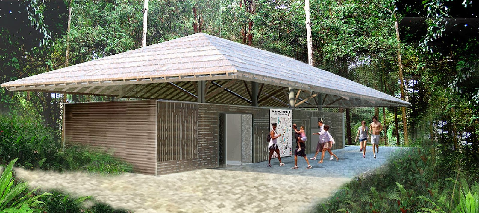 Artist's impression of the new toilet block