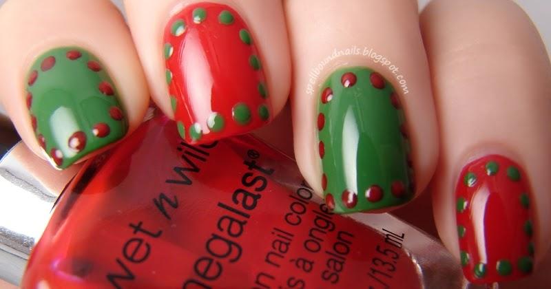 Nail Art Style Christmas Borders