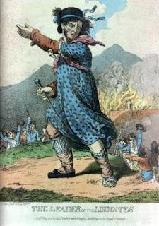 Ned Ludd líder ludista del siglo XIX
