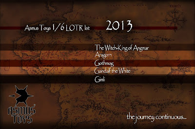 "Asmus Toys 1/6 Scale 12"" Lord of the Rings 2013 Figure Line-Up Announcement"