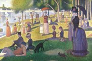 Georges Seurat (27) - Un domingo de verano en la Grande Jatte (1886) - técnica del puntillismo