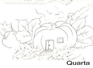 casinha na abobora moranga
