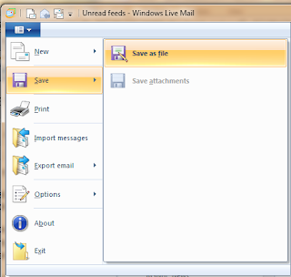 Windows live mail screen shot.