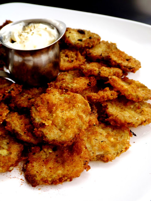 Battered Fried Pickles at home with this recipe on Gift Style Blog Gave That