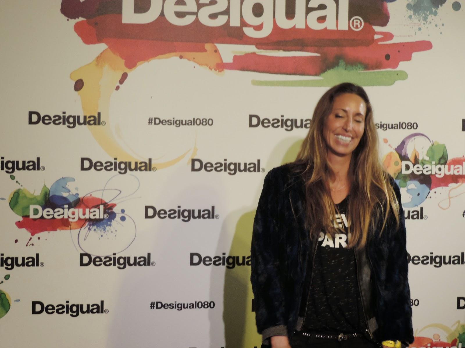 Gemma Mengual en Desfile Desigual en 080 Bcn Fahion Febrero 2015