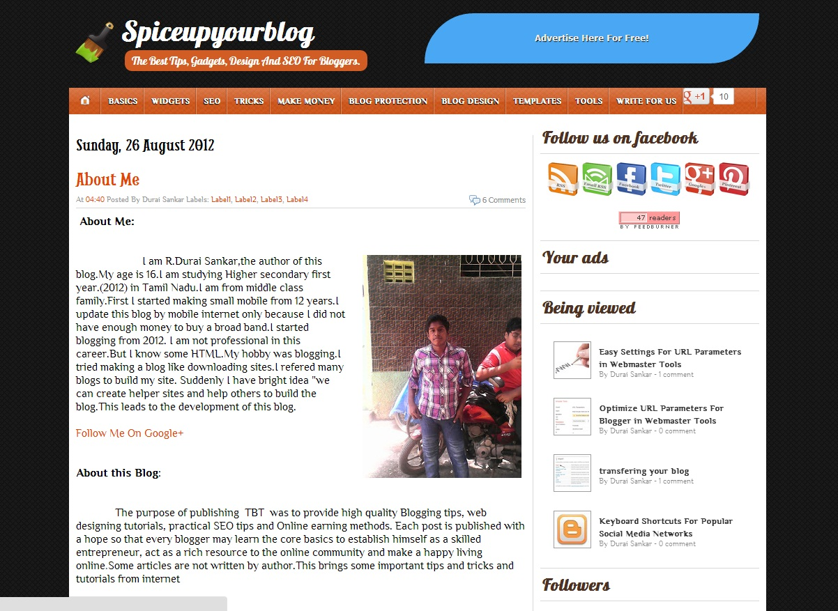 Top 5 professional free blogger templates thatsblogging for Pro photo blog templates