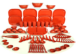 Buy Cutting Edge 81 Pcs Microwave Safe Dinner Set at Rs.1760 only