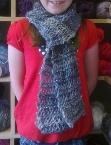 Knitting Patterns For Galaxy Wool : The Wool Shop: Slip stitch scarf
