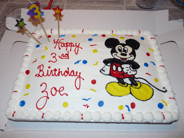 mickey mouse 3rd birthday cake
