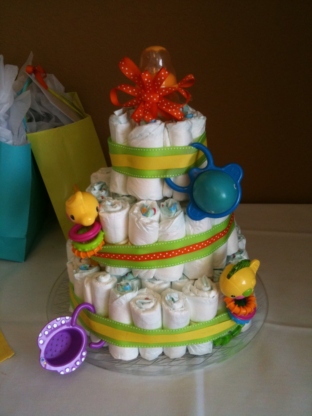 how to make an easy diaper cake