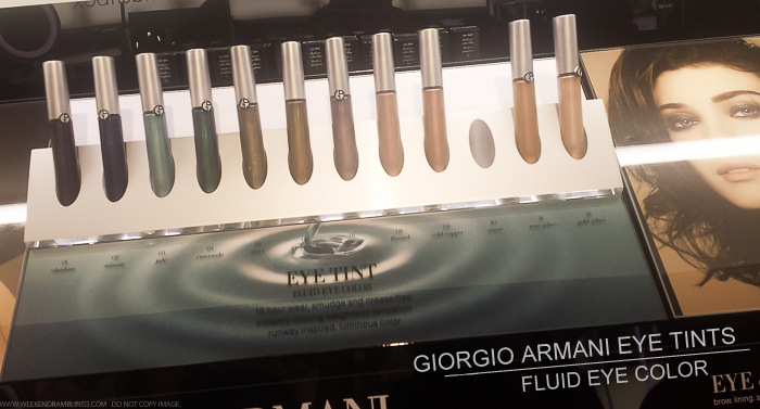 Giorgio Armani Eye Tint Fluid Color Swatches