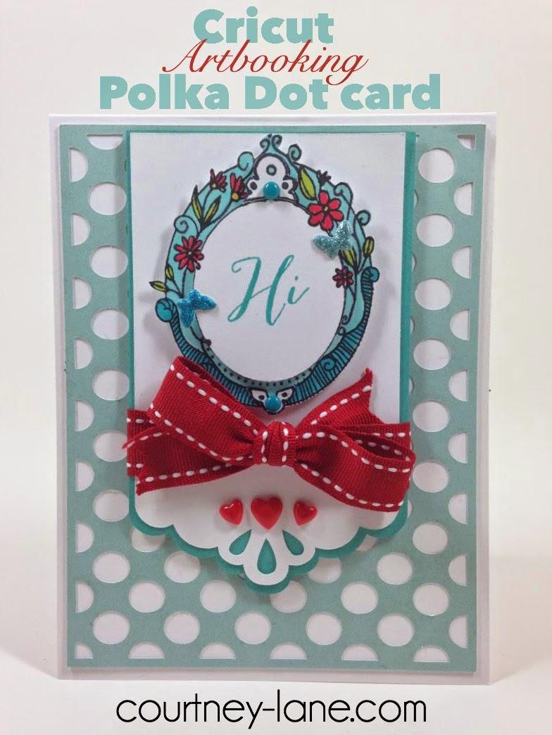 Cricut Artbooking Polka Dot card