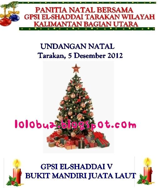 buat undangan natal gereja, pohon natal,GPSI El_Shaddai Tarakan, Gereja