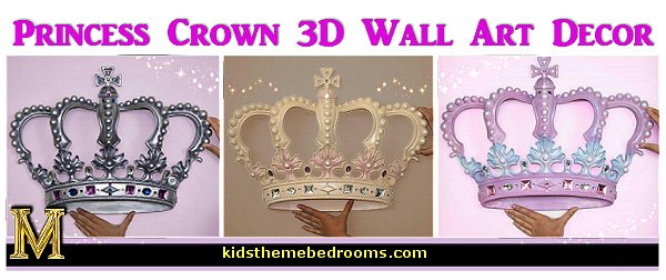 Wall Art Decor 3D Princess Crown Wall Art Decor Princess Bedroom Decor