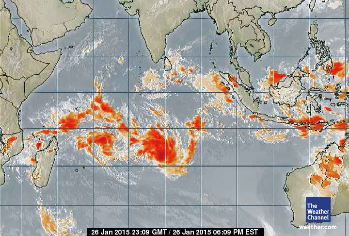 Vue générale sur le bassin cyclonique