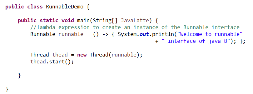 Java-Latte: How to create thread in Java 8