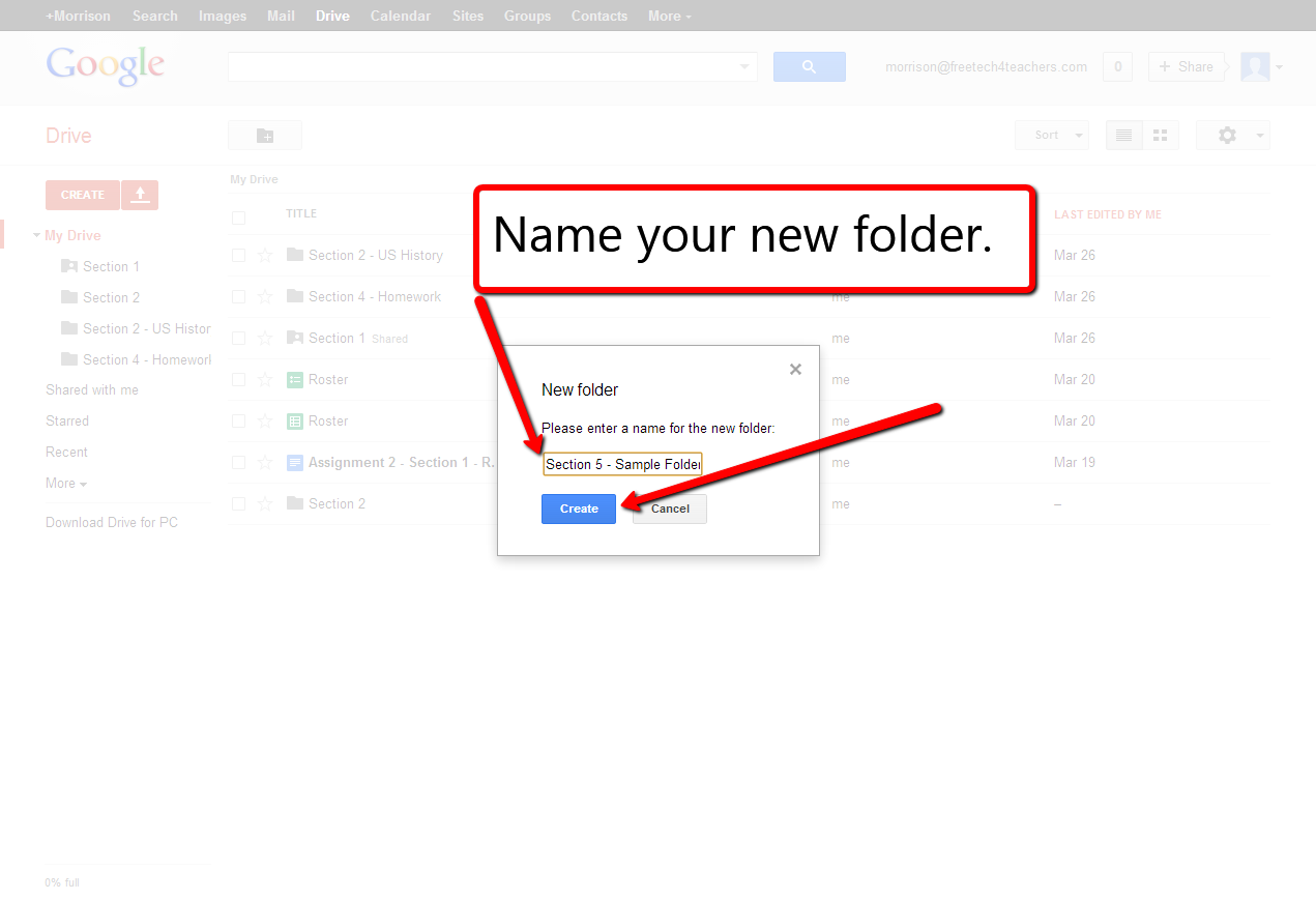 how to move google drive folder