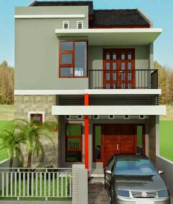 desain rumah kecil 2 lantai modern