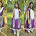 Aashitha in Purple Salwar