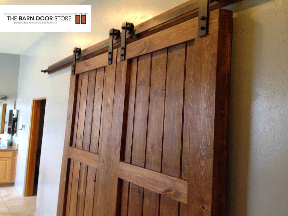 3-Rail Planked Barn Doors at a Master Closet entry in Tucson Arizona : tucson door - pezcame.com