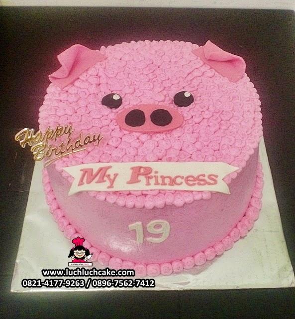 Kue Tart Kepala Babi 3D Daerah Surabaya - Sidoarjo