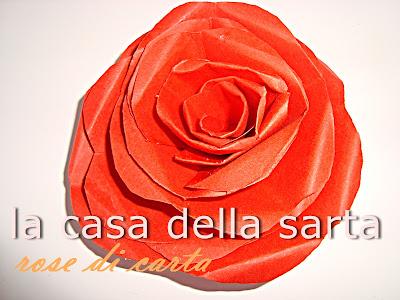 rose cartoncino rosso